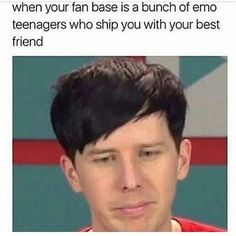 While I think that this is too generalizing of the fan base (not all of us ship them...or are teenagers for that matter), I have to say that this is what it feels like some days to be part of the Phandom... 😶
