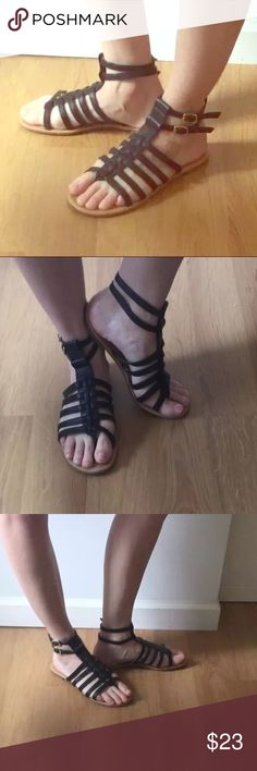 Black gladiator sandals Black gladiator sandals Shoes Sandals