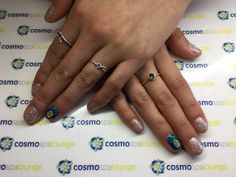 Hand painted pineapple gelish manicure #cosmospalounge #gelish #handpainted #nailart #fruit #vegan