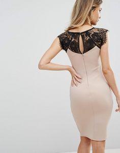 Lipsy Eyelash Lace Bodycon Dress