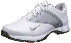 Made from leather with a synthetic sole these womens lunar golf shoes by Nike feature full-length TPU integrated traction and universal last Nike Womens Golf, Womens Golf Shoes, Nike Golf, Ladies Golf, Cleats, Athletic Shoes, Sneakers Nike, Grey, Wolf