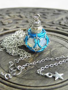 Captured OrbFairy bottle pendant necklace by BohemianFairyShop