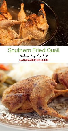 Southern Fried Quail is a delicacy straight out of my childhood. Serve with grits for an authentic southern dinner. Quail Recipes, Meat Recipes, Chicken Recipes, Cooking Recipes, Dove Recipes, Rabbit Recipes, Chicken Ideas, Yummy Eats, Yummy Food