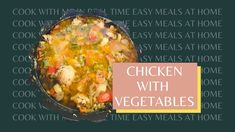 How to cook chicken stew with vegetables Easy To Cook Meals, Chicken Legs, Home Recipes, How To Cook Chicken, Stew, Vegetables, Cooking, Breakfast, Music