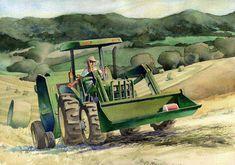 Barn, Tractor & Farm Life Art - Agricultural Landscape Paintings for Sale   James Mann Art Farm