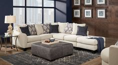 Deca Drive Cream 3 Pc Sectional from  Furniture