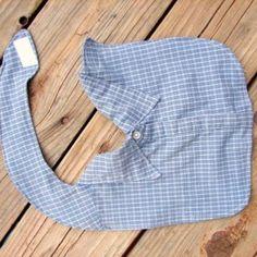 bavette per neonato da vecchie camicie