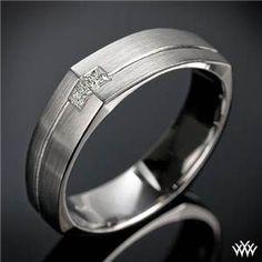 Mens Euro Shank Diamond Wedding Ring