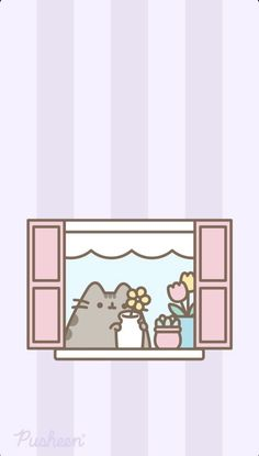 Pusheen Cute, Cute Love Gif, Kpop, Aesthetic Wallpapers, Kitty, Cartoon, Cats, Beautiful Things, Florals