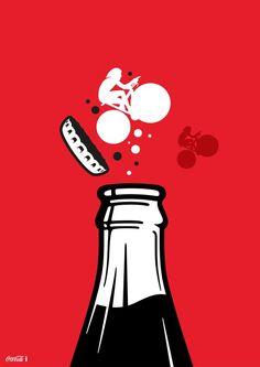 Nov 16: Coca-Cola Contour Bottle 100yr Birthday #cyclerevolution @cyclist @jamesommerville via @tfxfarrell2012 Pop Art, Coca Cola Bottles, Photo Wall Collage, Cultura Pop, Retro Art, Coke, Cute Wallpapers, Contour, Art Drawings