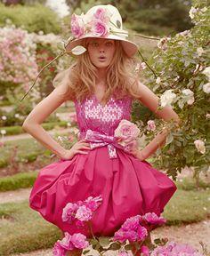 Miss Dior Cherie ad campaign -- Rose Garden