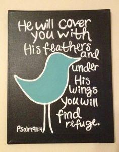 Psalm 91:4 by Batya