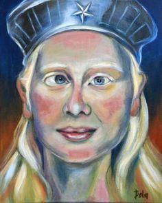 "Saatchi Art Artist Clara de Bobes; Painting, ""Caitlin"" #art Saatchi Art, Original Paintings, Canvas, Artist, Paintings, Tela, Artists, Canvases"