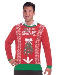 Funny Christmas Mug -Ugly Christmas Sweater Christmas Costume Choose Your Style (Medium, Kiss Me Under The Mistletoe) Penny Lane Gifts,http://www.amazon.com/dp/B00GMPOMWO/ref=cm_sw_r_pi_dp_qJvLsb177849CEAE