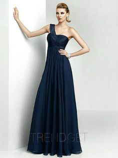 Fabulous Royal Blue Ruching One Shoulder Bridesmaid Dresses