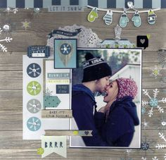 Baby It's Cold Outside - Scrapbook.com - Made with Simple Stories Snow Fun collection