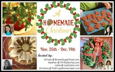 A Homemade Christmas - projects featured by 4 different bloggers