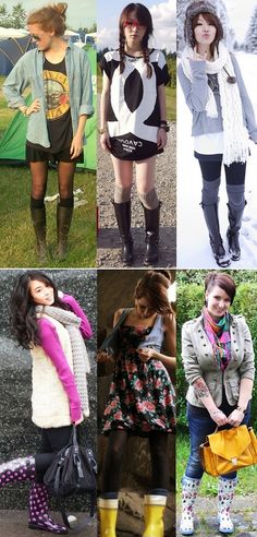 looks: botas/galochas
