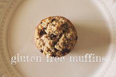 Gluten free Banana Oatmeal Chocolate Chip Muffins