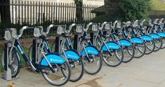 Barclays bike hiring station- so convenient to ride around the city.