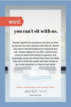Female empowerment education by Anirot: challenges faced by women at the workplace. Gender Issues, Female Empowerment, Workplace, Insight, Challenges, Inspirational Quotes, Education, Words, Face