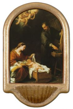 Holy Family Holy Water Font Click picture to see on #catholictothemax