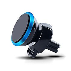 Universal 360 Rotation Magnetic Support Cell Phone Car Dash Holder Stand Mount - Blue - #aulola - #Vouchercode - #Offers