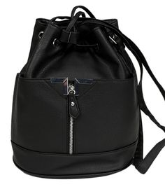 Black leather womens handbag by Primark