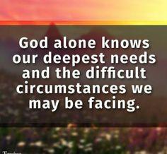 God knows all we go through