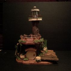 OOAK Fairy House: Light House by BirchTreeFairyHouses on Etsy