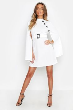 Womens Ladies Stars Off the Shoulder Ruched 3//4 Tie Sleeve Button Shirt Dress