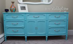 Danielle's refinished bedroom furniture