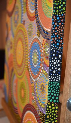 Circles of Life Aboriginal Dot Art Sacred circles by OleseaArts