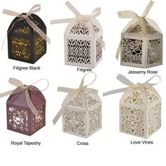~ Beautiful wedding favour boxes ! ~