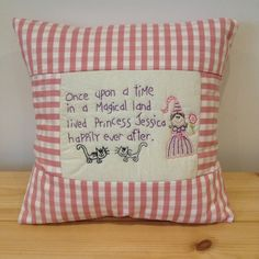 Personalised cushions for any occasion. Any name. Hand stitched, embroidered, hand made cushion cover. Perfect gift