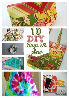 It's In The Bag: 10 DIY BAGS TO SEW