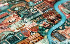Illustration- London's Great Little Places on Behance