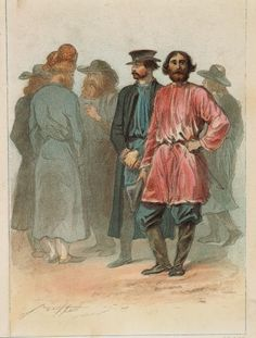Men Israelite costumes and Southern Russia peasants costumes in 1837. Description from gettyimages.com. I searched for this on bing.com/images