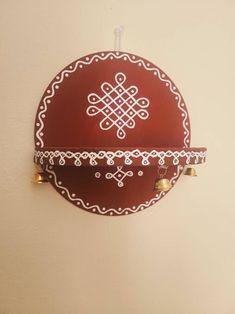 Small Rangoli Design, Rangoli Designs With Dots, Rangoli With Dots, Kolam Designs, Dog Canvas Painting, Diy Canvas Art, Diwali Decorations, Festival Decorations, Wedding Decorations