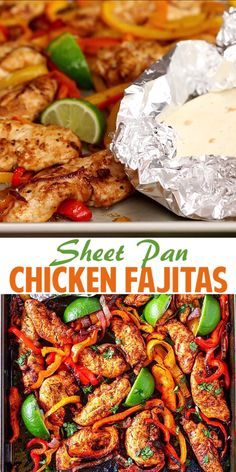 Healthy dinner recipes 249598004336617203 - These Sheet Pan Chicken Fajitas are a snap to make and they are so delicious! Colorful bell peppers, red onions and chicken tenders simply tossed together with olive oil and spices. Source by EverydayMaven Easy Dinner Recipes, Easy Meals, Clean Eating Dinner Recipes, Quick Easy Healthy Dinner, Organic Dinner Recipes, Breakfast Recipes, Easy Summer Dinners, One Pan Meals, Wrap Recipes