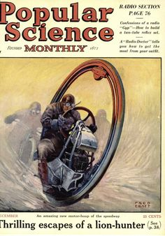 The monowheel was tech's improvement on bicycles. Sadly, it didn't catch on.