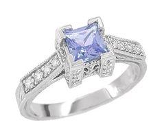 Beautiful tanzanite engagement rings