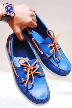 Blue Boat Shoes with matching watch Me Too Shoes, Men's Shoes, Shoe Boots, Dress Shoes, Men Dress, Blue Boat Shoes, Dock Shoes, Men's Fashion, Fashion Shoes