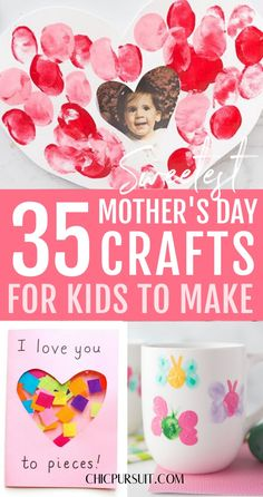 The Best Mothers Day Crafts For Kids Easy DIY Projects! These quick and easy crafts for kids to make at home will melt any mom's heart. If you're looking for Mothers day crafts for kids preschool, Mothers day crafts for kids toddlers, Mothers day crafts for kids for grandma or Mothers day crafts for kids at school, these spring crafts for kids and Diy crafts for kids are for you! #craftsforkids #mothersday #mothersdaycraftsforkids #crafts #springcrafts #easy #diy
