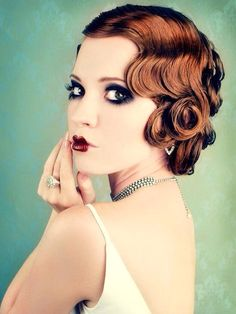 My Favorite 20s hairstyle. I would love to do this for a Great Gatsby or roaring 20s theme prom
