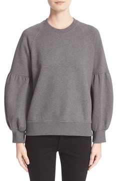 Free shipping and returns on Burberry Bell Sleeve Sweatshirt at Nordstrom.com. Dramatically ballooned raglan sleeves take a soft cotton-blend sweatshirt from off-duty staple to casual statement-maker.