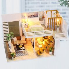 2 Storey Modern DIY Doll House - Furnished Miniature House w / Lights - Wooden Dollhouse Grownup Toy - Dollhouse Furniture Kit - Diy Project- 2 story one doll modern DIY home furnished house Source by blackjackbom - Dollhouse Furniture Kits, Dollhouse Kits, Home Furniture, Miniature Dollhouse, Wooden Dollhouse, Dollhouse Dolls, Wooden Furniture, Miniature Furniture, Mirrored Furniture