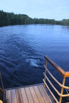 Are you ready to jump! Sauna boat Jalo in Finland.