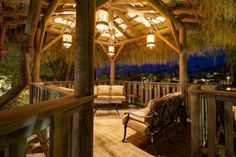 Palm Springs Vacation Rentals. Beautiful night view of Treehouse.