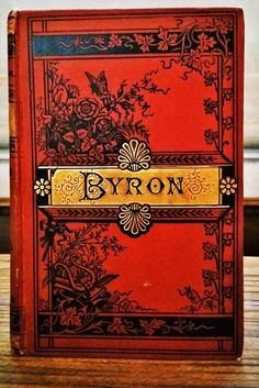 The Poetical Works of Lord Byron c.1890 . The siren call of the bookshop and market - finding a beautiful old book .